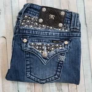Miss Me Bootcut Jeans with Pearls and Studs